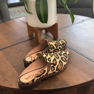 Sam Edelman calf hair mules nwot